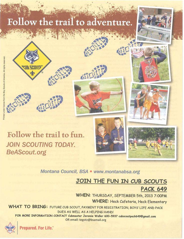 Cub Scouts Flyer | Cub Scouts | Pinterest