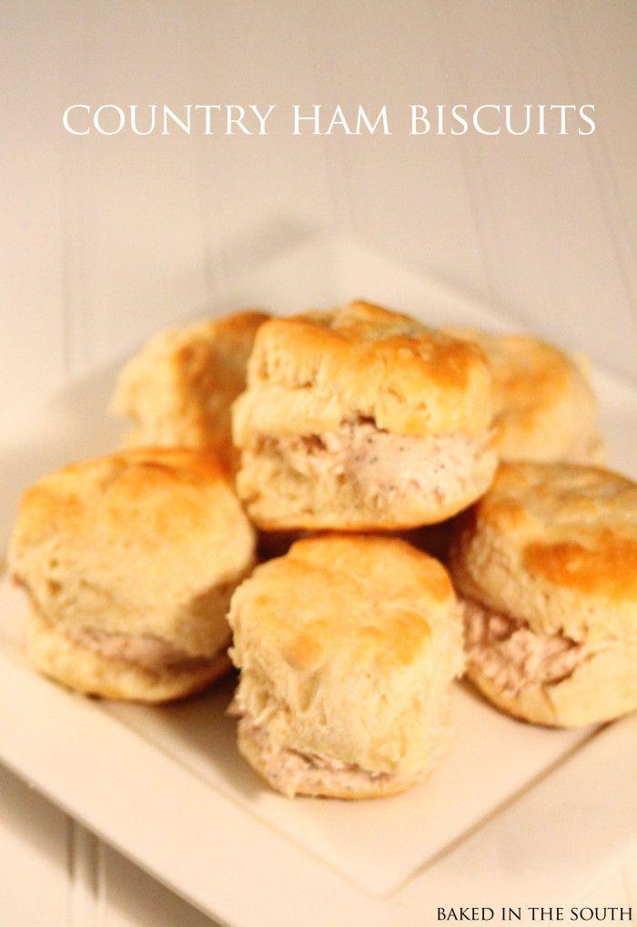 country ham biscuits | Breakfast | Pinterest