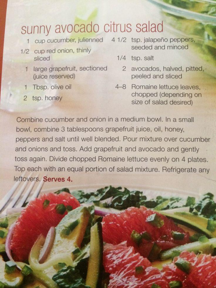 Sunny Avocado Citrus Salad | Salads | Pinterest