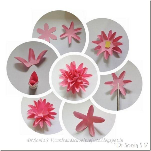 Easy paper flower tutorial paper flowers pinterest - Simple handmade paper flowers ...