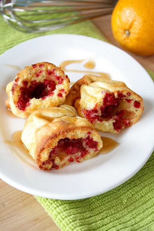 Raspberry-orange-popovers with a link to cinnamon roll popovers ...