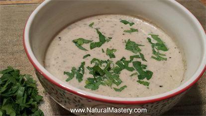 dairy free* Cream of Mushroom Soup with Roasted Cauliflower Leeks and ...