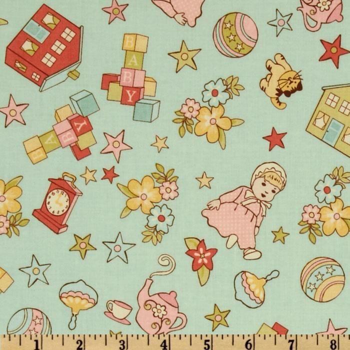 Vintage nursery fabric fantastic fabrics pinterest for Retro nursery fabric