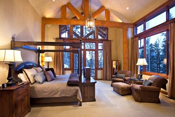 Log Cabin Master Bedroom Dream House Pinterest