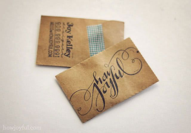 kraft paper business card Brown Paper Bags