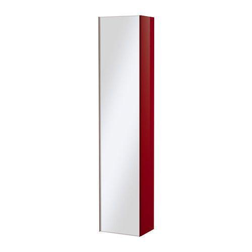 Jugendzimmer Ikea Für Mädchen ~   30 cm Height 192 cm GODMORGON Mirror cabinet  high gloss red  IKEA