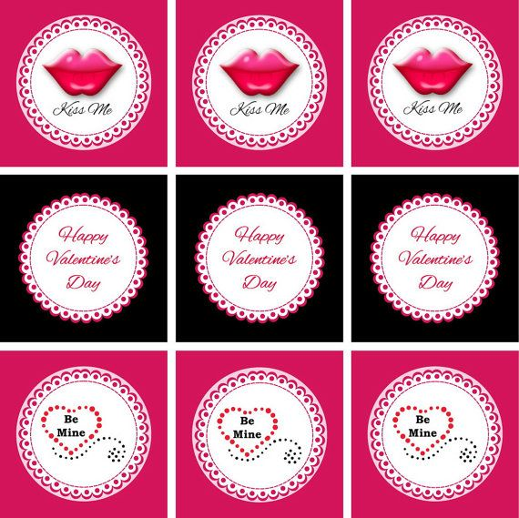 valentine cupcake toppers printable