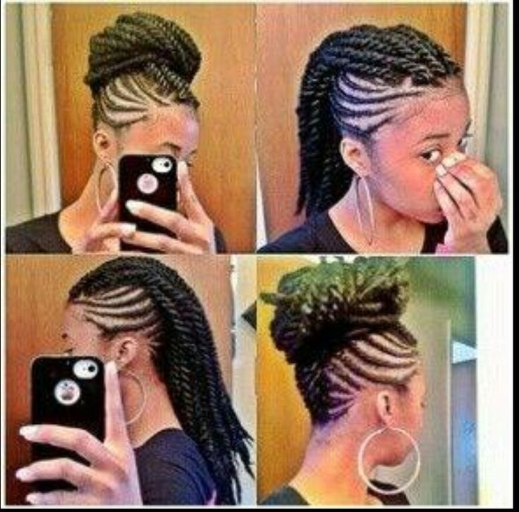 Mohawk Natural Hair Twists Braids