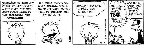 Calvin and hobbes last comic strip funny pinterest