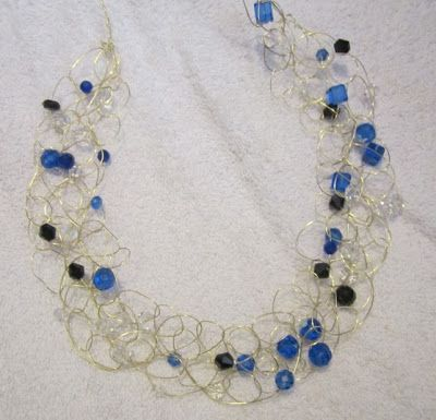 Crochet Wire Necklace Tutorial Jewelry To Make Pinterest