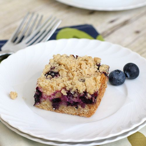 Blueberry-Streusel Bars with Lemon Cream Filling by Tracey's Culinary ...
