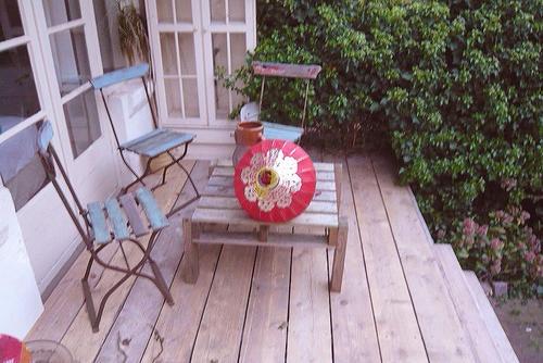 une terrasse en bois de récup  Terrasse en bois  Pinterest