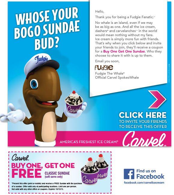Carvel ice cream cake coupons printable