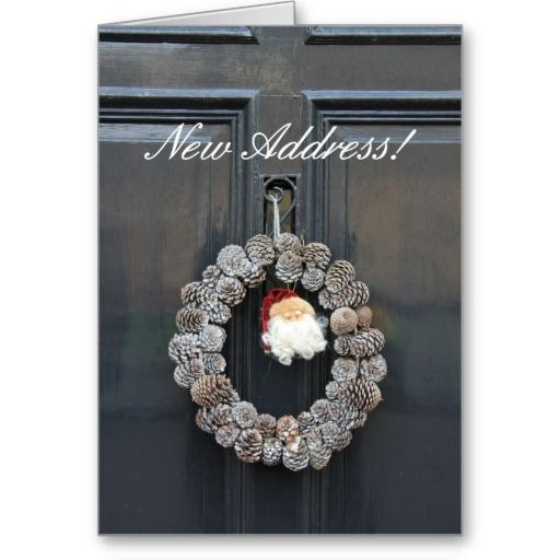 Christmas Card And New Address Holliday Decorations