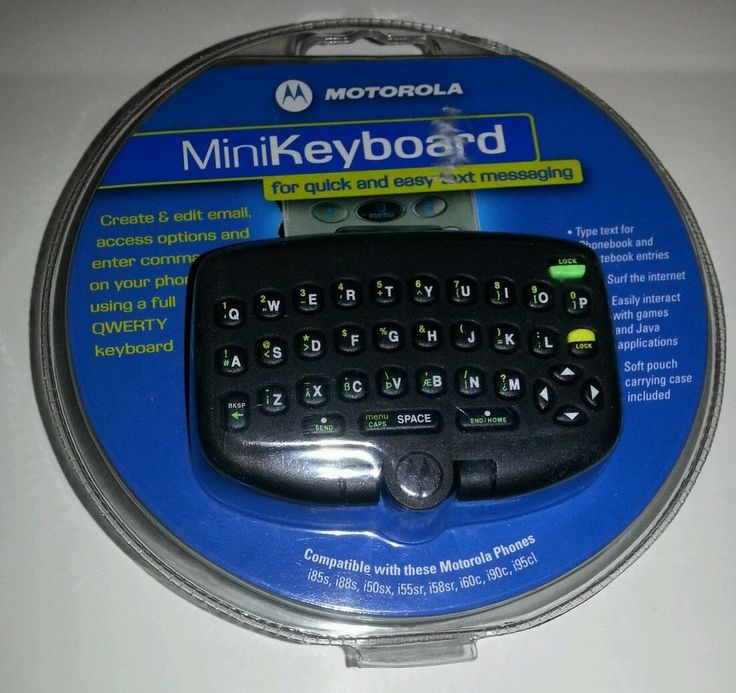 Brand New Motorola Mini Keyboard for cell phone texting Full Qwerty ...