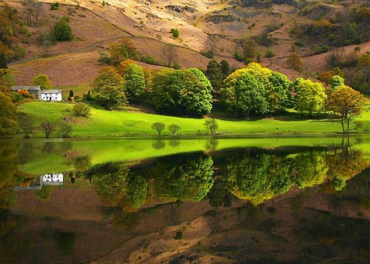 lakeside autumn