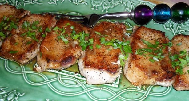 Pan Seared Pork Chops in White Wine Sauce   Recipe