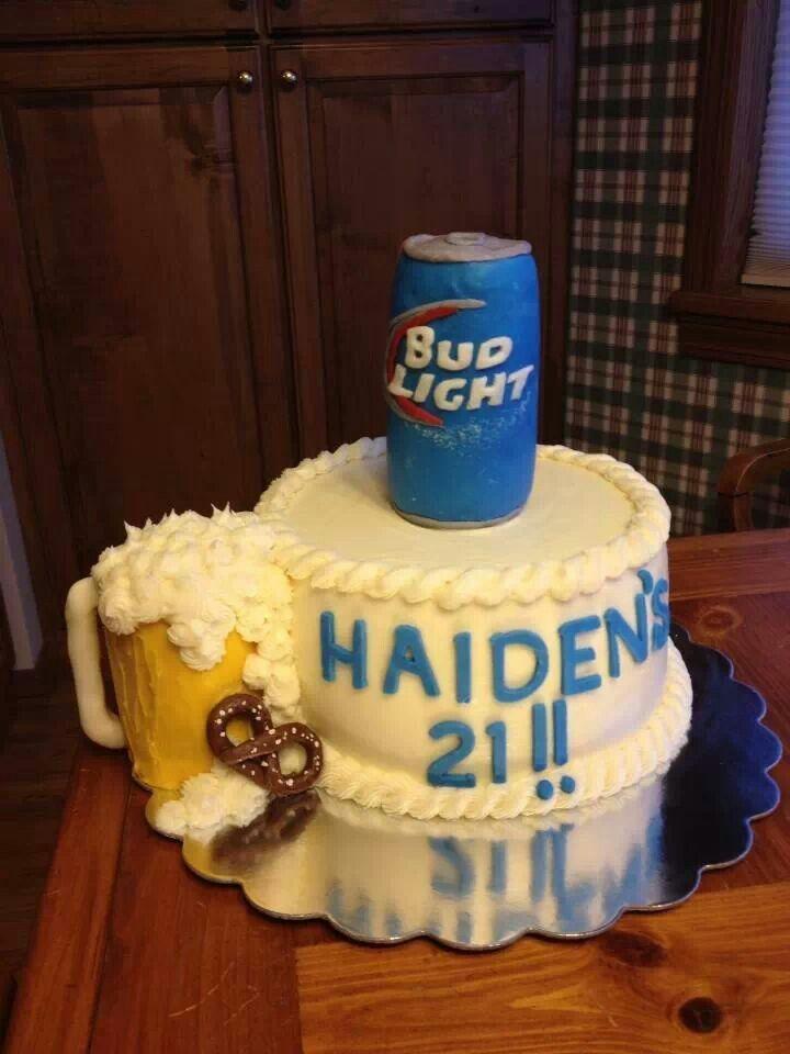 Bud Light Wedding Cake Pin Beer Can Birthday Cakes On