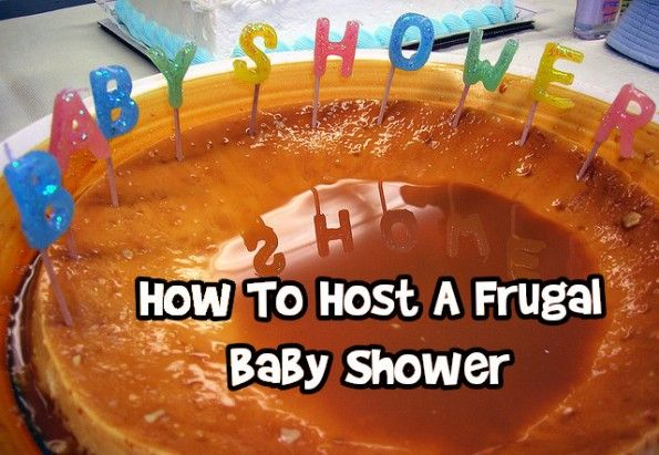 how to host a frugal baby shower baby showers pinterest