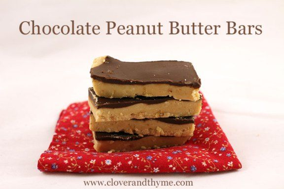 Chocolate Peanut Butter Bars | Cakes/Squares | Pinterest
