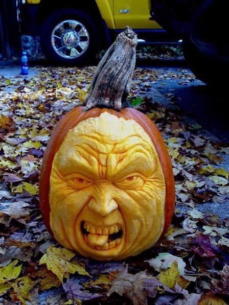 D halloween pumpkin carvings festive