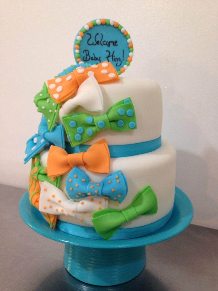 bow tie baby boy shower cake 2 boys pinterest