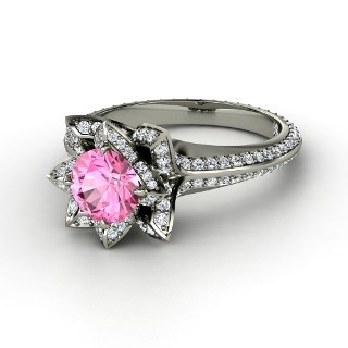 Pink sapphire and diamond #ring