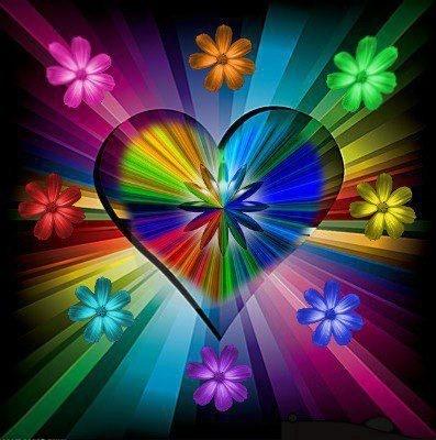 bright colors | Hearts | Pinterest