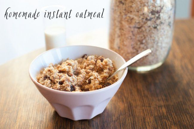 homemade instant oatmeal | FOOD | Pinterest