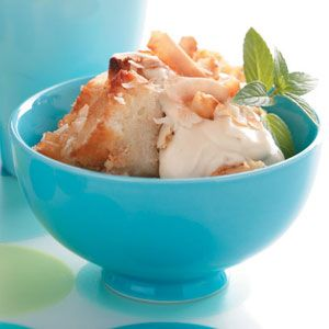 Strawberry Bread Pudding With Creme Fraiche Whipped Cream Recipes ...