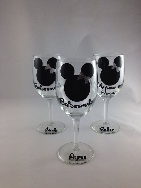 Glass: Personalized Disney Gift, Bridal Shower Gift, BridL Party Gift ...