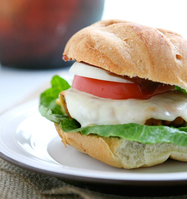 BBQ Chicken Burgers by Eclectic Recipes