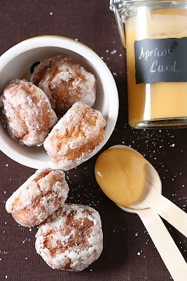 Cream puff beignets and apricot curd | Doughnuts and Beignets | Pinte ...