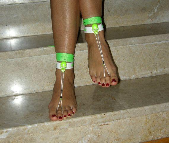 Barefoot Sandals leatherBikini WomenBeach shoes by SibelDesign, $14.90