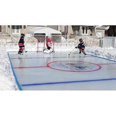 arctic backyard ice skating outdoor hockey rink kit 50 x25