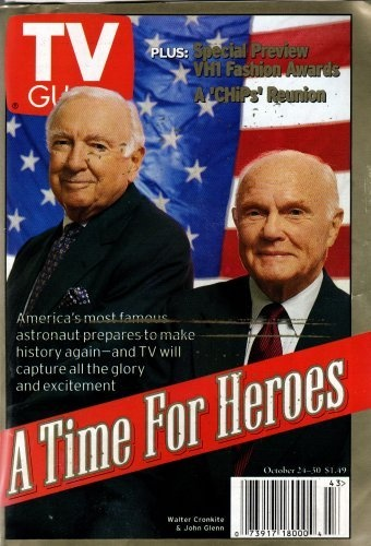 John Glenn - Walter Cronkite Cover TV Guide October 1998 on amazon.com