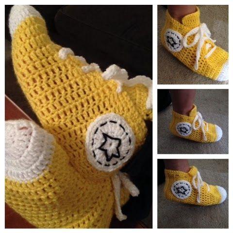 Crochet Pattern For Converse Slippers Pakbit For