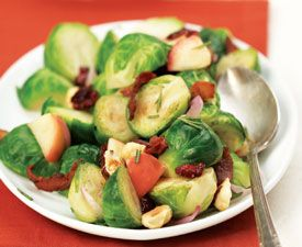 ... -seared Brussels Sprouts with Apples, Bacon, Shallots and Rosemary