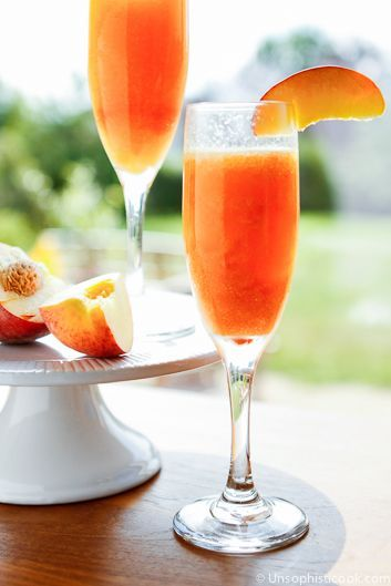 Frozen Peach Bellinis | Recipe