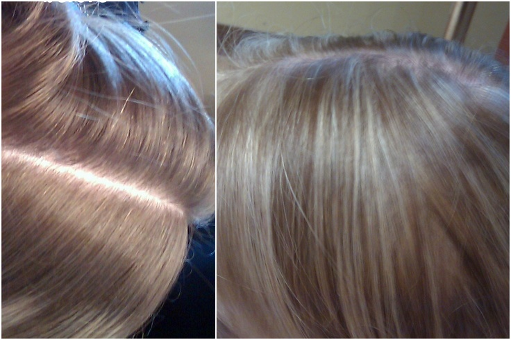 Partial foil-highlight touch up | hair foiling | Pinterest