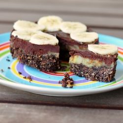 Mini version of Dorie Greenspan's double chocolate and banana tart.