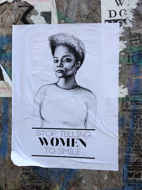 No woman owes anyone a smile
