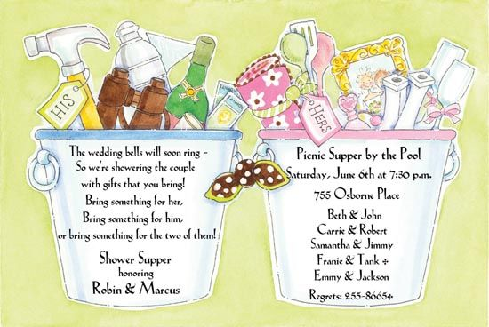 His And Her Wedding Shower Gifts : His and Her Shower Invitation Wedding Ideas Pinterest