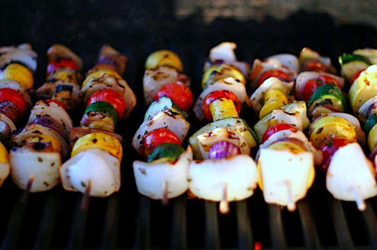 grilled vegetable kabobs | Foodie | Pinterest