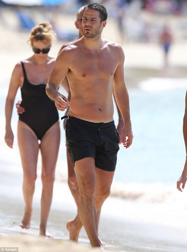 Premier league dad shirtless jamie redknapp leaves younger men in