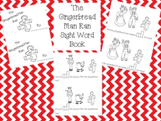 Clearly Kindergarten: Gingerbread Sight Word Book Freebie