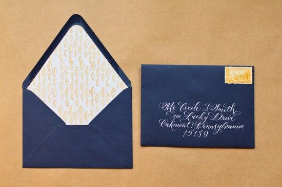 DIY stamped envelope liners in my wedding colors :) (from way back in 2009)