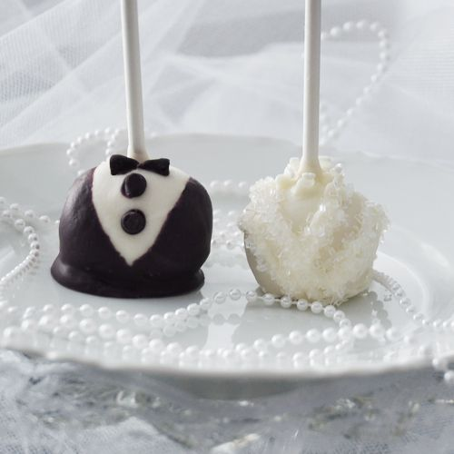 DIY - bride and groom cake pop