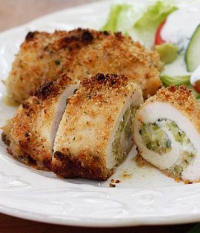 Chicken Rollatini Stuffed with Zucchini and Mozzarella #chicken # ...