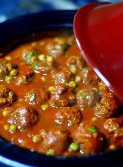 fil Tagine (Moroccan Spiced Meatball Tagine). We substituted lamb ...